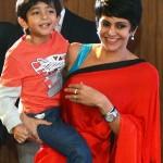 Mandira Bedi and her son Vir