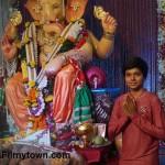 Ayush Khedekar at Ganapati Bappa mandal