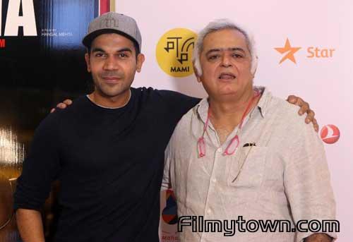 Rajkummar Rao, Hansal Mehta at Omerta screening